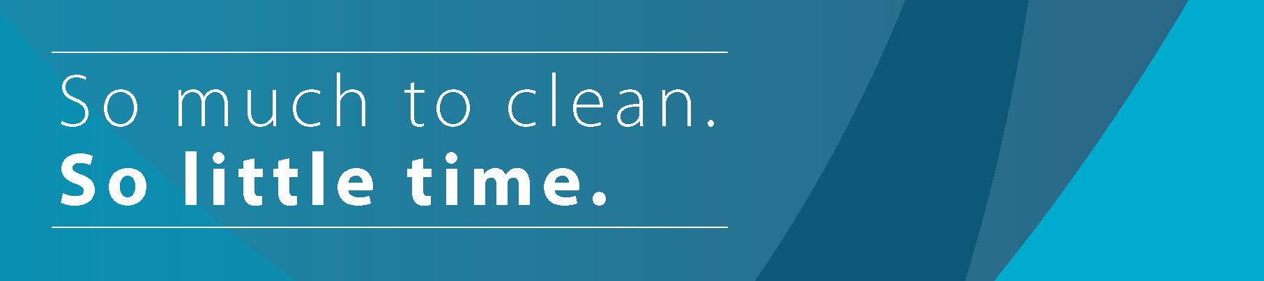 so much to clean blog banner